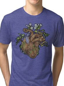 Heart - Wood Tri-blend T-Shirt