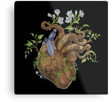Heart - Wood Metal Print