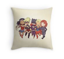 Super BFFs Throw Pillow
