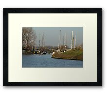 Boats - Sailing Boat Harbour Framed Print
