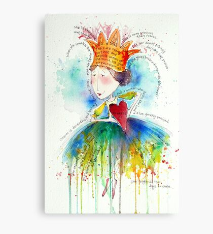 Proverbs 31 Woman Canvas Print