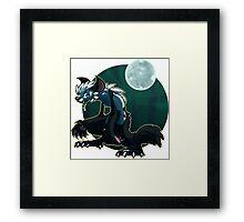 Werecat's night Framed Print