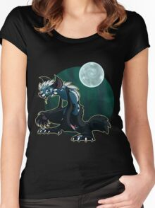 Werecat's night Women's Fitted Scoop T-Shirt