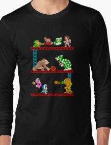 8 Bit Smash Bros. Long Sleeve T-Shirt