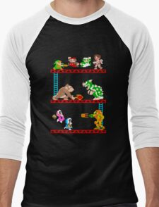 8 Bit Smash Bros. Men's Baseball ¾ T-Shirt
