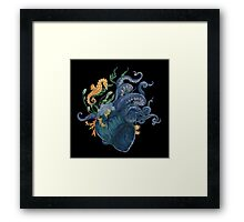 Heart - Ocean Framed Print