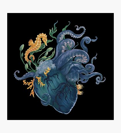 Heart - Ocean Photographic Print