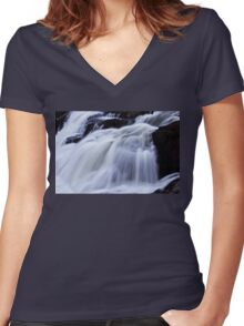 Petite Nation Falls - Gatineau 2 Women's Fitted V-Neck T-Shirt