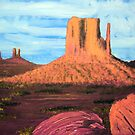 Monument Valley  4rd by Heberto   G. Cavazoz