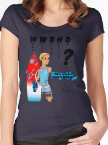 What Would Bethany Hamilton Do? Women's Fitted Scoop T-Shirt