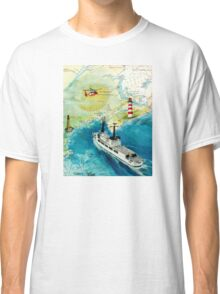 USCGC CHASE Helicopter Lighthouse Map Cathy Peek Classic T-Shirt