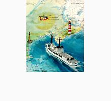 USCGC CHASE Helicopter Lighthouse Map Cathy Peek T-Shirt