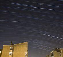 Star trails over Ljubljana by Ian Middleton