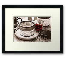With Love Greetings Card Framed Print
