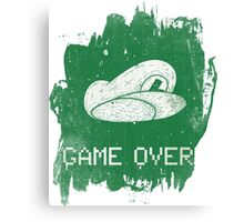 Game Over Luigi Canvas Print