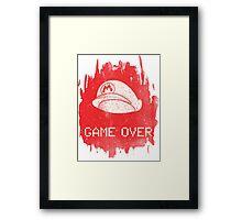 Game Over Mario Framed Print