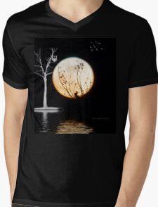 Super Moon Light (T-Shirt) Mens V-Neck T-Shirt