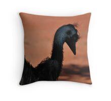 The Emu Hair Do Throw Pillow