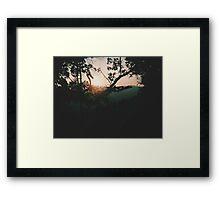 Sunrise at Wei Bao Shan Framed Print