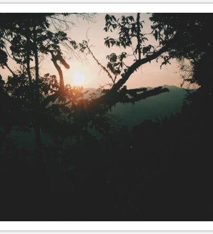 Sunrise at Wei Bao Shan Sticker