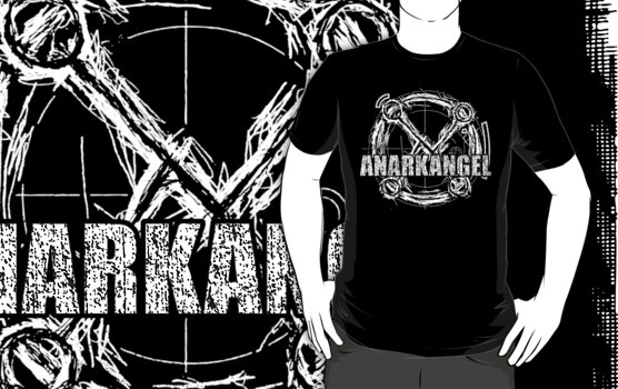 AnarkAngel Band Logo white by Firebiro