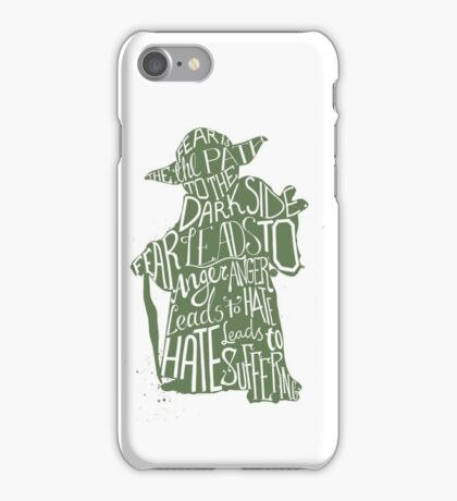 Fear is the Path to Darkside typography design iPhone Case/Skin