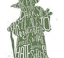 Star Wars Yoda Quote Fear is the Path to Darkside by ploveprints