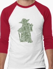 Fear is the Path to Darkside typography design Men's Baseball ¾ T-Shirt