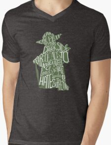 Fear is the Path to Darkside typography design Mens V-Neck T-Shirt