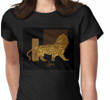 Golden Lion Modern composition, gold black brown Womens Fitted T-Shirt