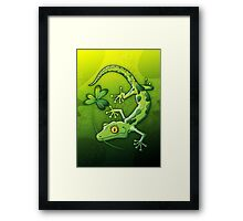 Saint Patrick's Day Gecko Framed Print