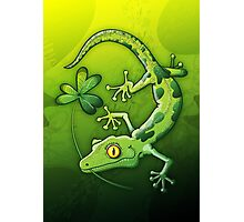 Saint Patrick's Day Gecko Photographic Print