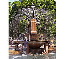 From the Sublime to the Ridiculous - Archibald Fountain Idiots Photographic Print
