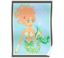 Mermaiden delicate bubble feast Poster