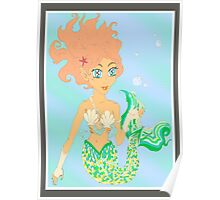 Mermaiden delicate bubble feast Poster