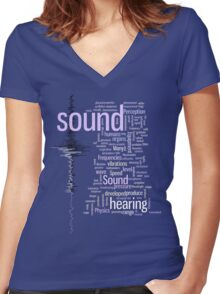 SOUND Women's Fitted V-Neck T-Shirt