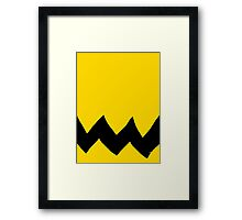 charlie brown Halloween costume  Framed Print