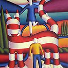 Genetic cat with lovers 2 by Alan Kenny