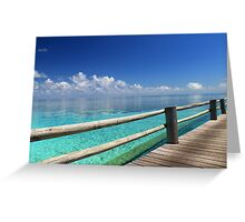 The most picturesque Boardwalk in the world Greeting Card