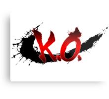 Street Fighter K.O. Metal Print