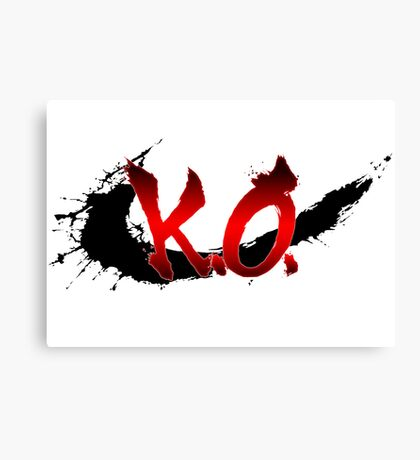 Street Fighter K.O. Canvas Print