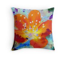 Peach Wine Throw Pillow