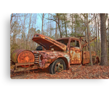 Old Ford F4 Tow Truck Canvas Print