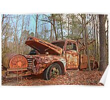 Old Ford F4 Tow Truck Poster