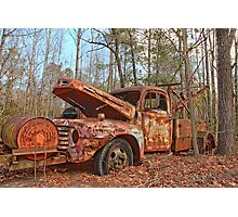 Old Ford F4 Tow Truck Photographic Print