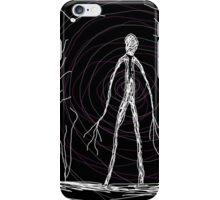dark creepy slender man in forest on Halloween by Tia Knight iPhone Case/Skin