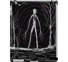 dark creepy slender man in forest on Halloween by Tia Knight iPad Case/Skin