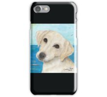 Yellow Labrador Lab Dog Beach Cathy Peek iPhone Case/Skin