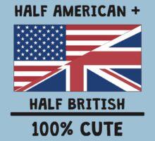 Half British 100% Cute One Piece - Short Sleeve
