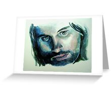 Viggo Mortensen,  featured in Art Universe Greeting Card